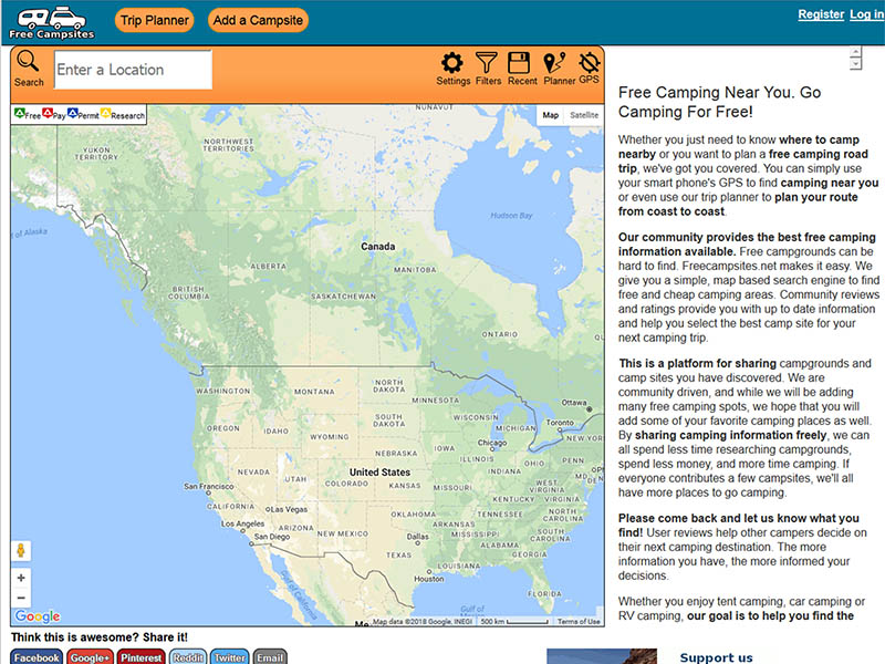 Map_Websites-FreeCampsites_net